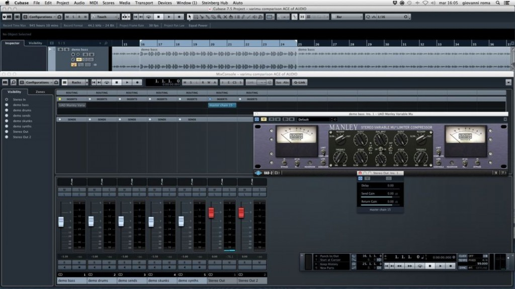 Fig .2 Cubase digital insert