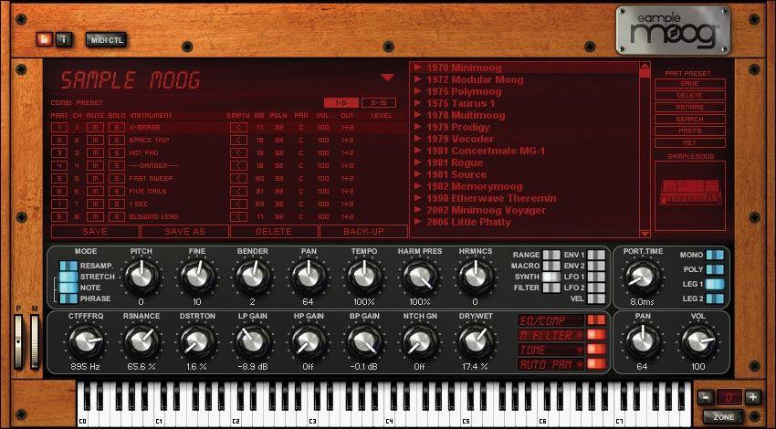 Sample Moog Age of Audio - IK Multimedia: Sample Moog
