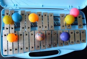 Toy glockenspiel with pIng pong balls for Native Instruments Kontakt