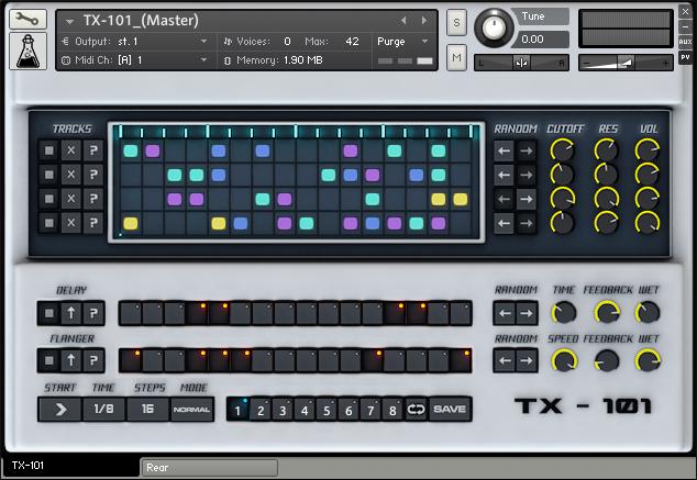 AudioThing TX 101 GUI - AudioThing rilascia TX-101 per Kontakt