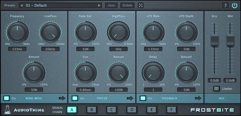 Frostbite GUI - AudioThing rilascia Frostbite per Mac e Pc (VST/AU/AAX)