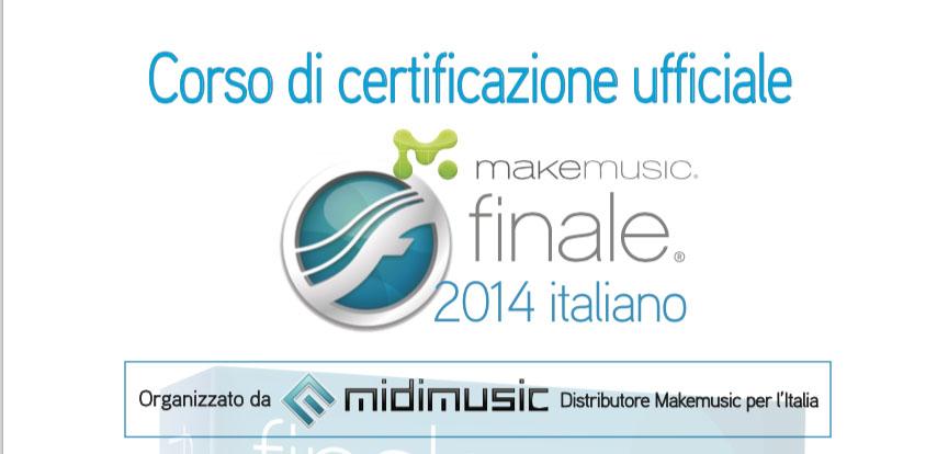 Certificazione MakeMusic Finale 2014 Age of Audio - Certificazione Ufficiale di Finale 2014 italiano