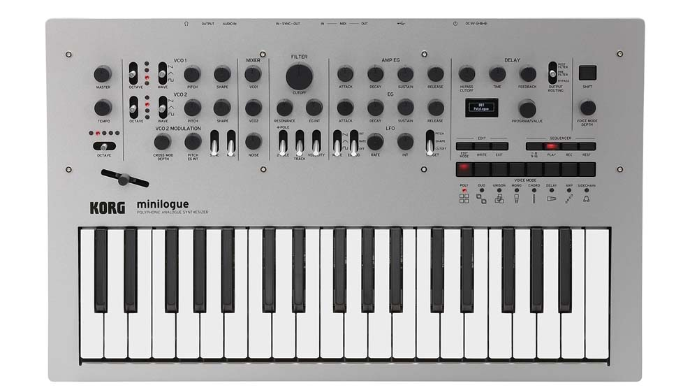 Korg – Miniloque  Sintetizzatore analogico polifonico di nuova generazione.