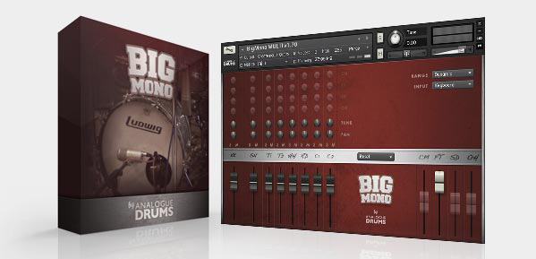 Free samples drum library: Big Mono- Analogue drums