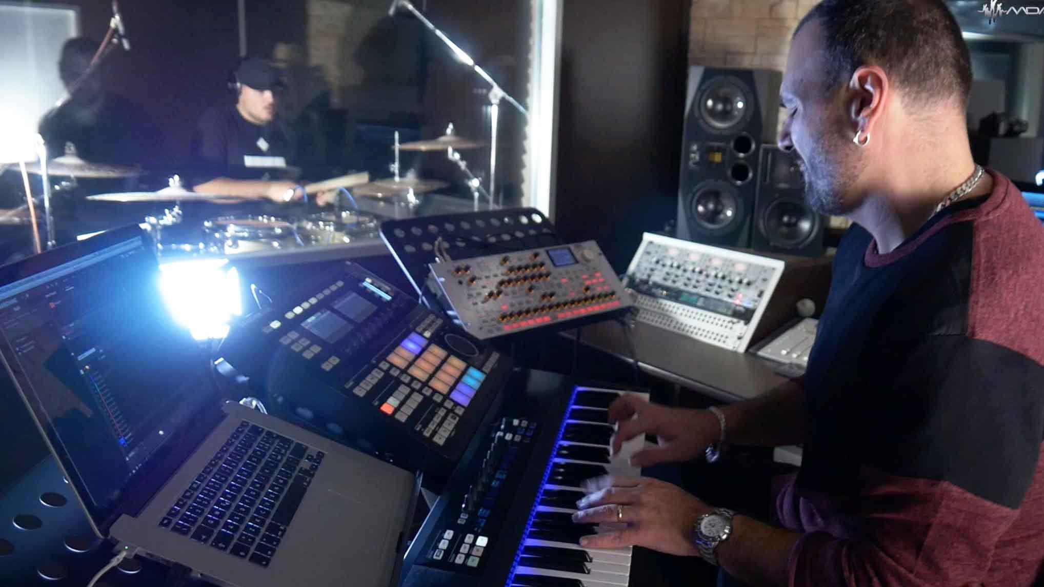 Setup studio di registrazione di M. D'Ambra