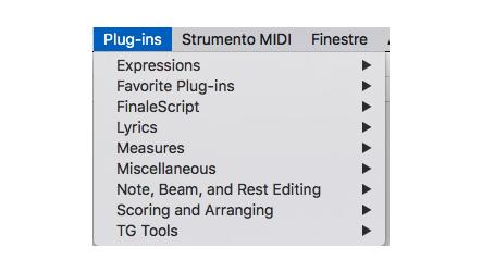 Fig.3 - Menù plug-ins