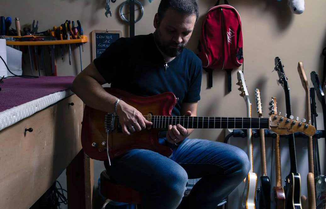 Vincenzo Romano nel suo laboratorio - Pic .A. Capuozzo
