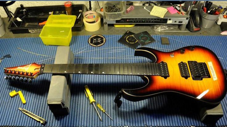 Ibanez RG7 custom Marco Sfogli - Tech Guitar Tips - Floyd Rose con Michele Migi