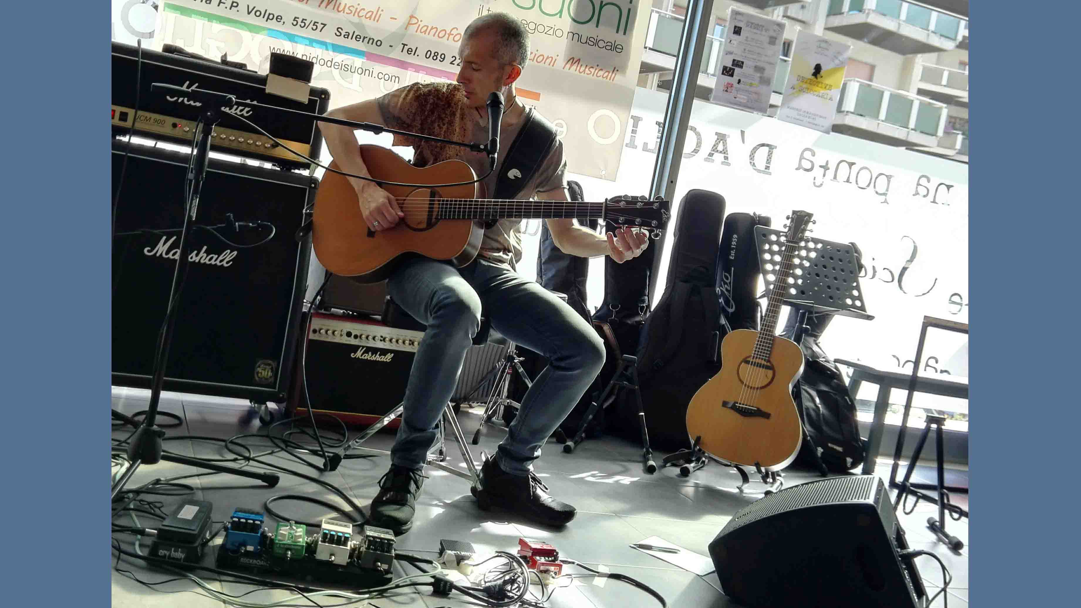 Setup Massimo Varini - Reportage Masterclass di chitarra con Massimo Varini