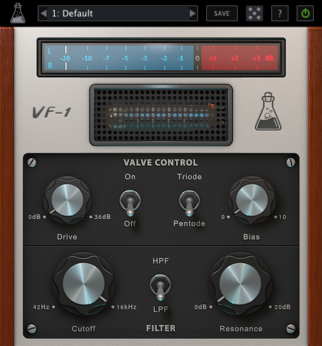 AudioThing Valve Filter VF 1 GUI - AudioThing Valve Filter VF-1 Review