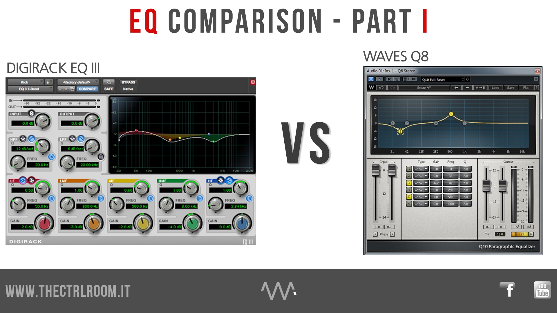 AVID DigiRack EQ III vs WAVES Q8 EQ Age of Audio - AVID DigiRack EQ III  vs WAVES Q8 EQ