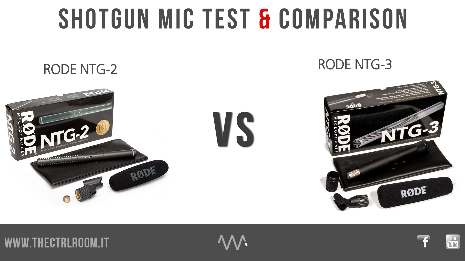 SHOTGUN MIC TEST COMPARISON - Rode NTG-2 vs NTG3
