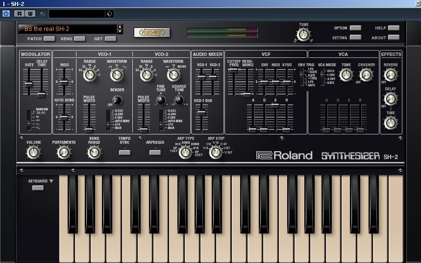 Screenshot Roland SH 2 Plug Out  - Roland SH-2 Plug-Out - Pluggati ma di baci saziami