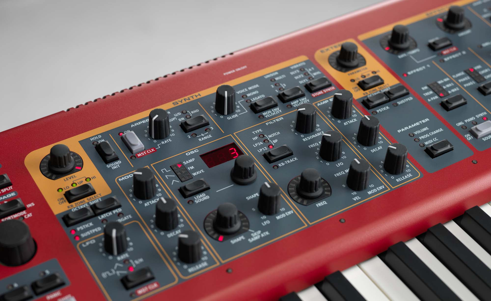 Particolare Clavia Nord Stage 2 Ex Age of Audio - Musikmesse 2015 - Nord Stage 2 EX