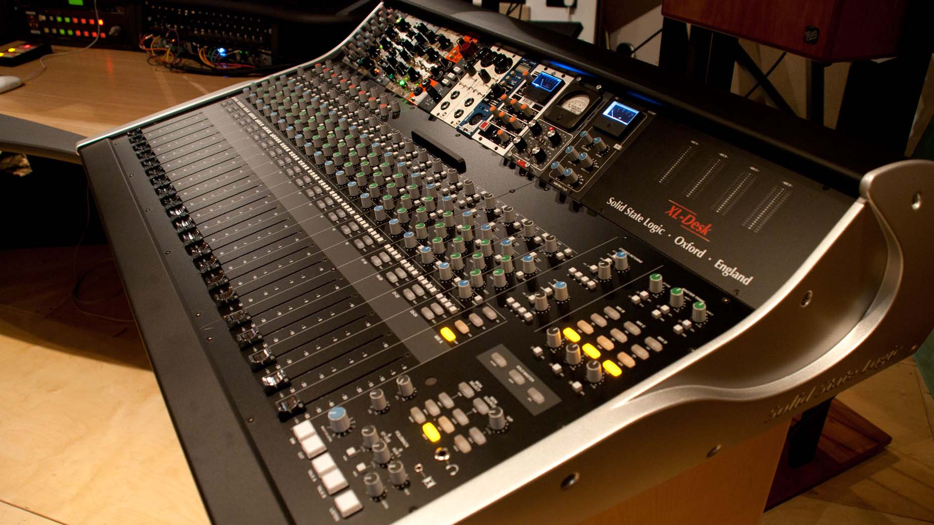 SSL XL Desk Age of Audio - SSL Studio Workshop 2015