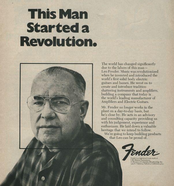 """fender revolution - La rivoluzione """"rumorosa"""" di Leo Fender!"""