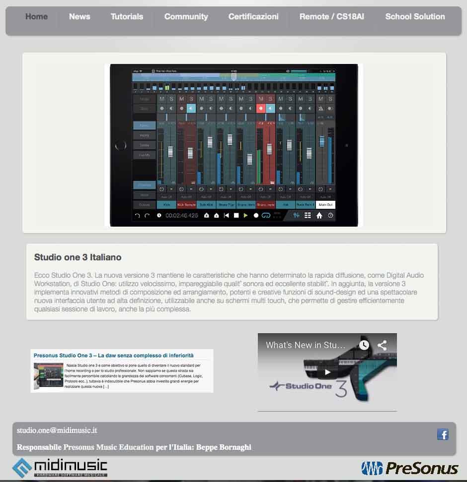 Studio One Italia AgeofAudio - Studio One Italia