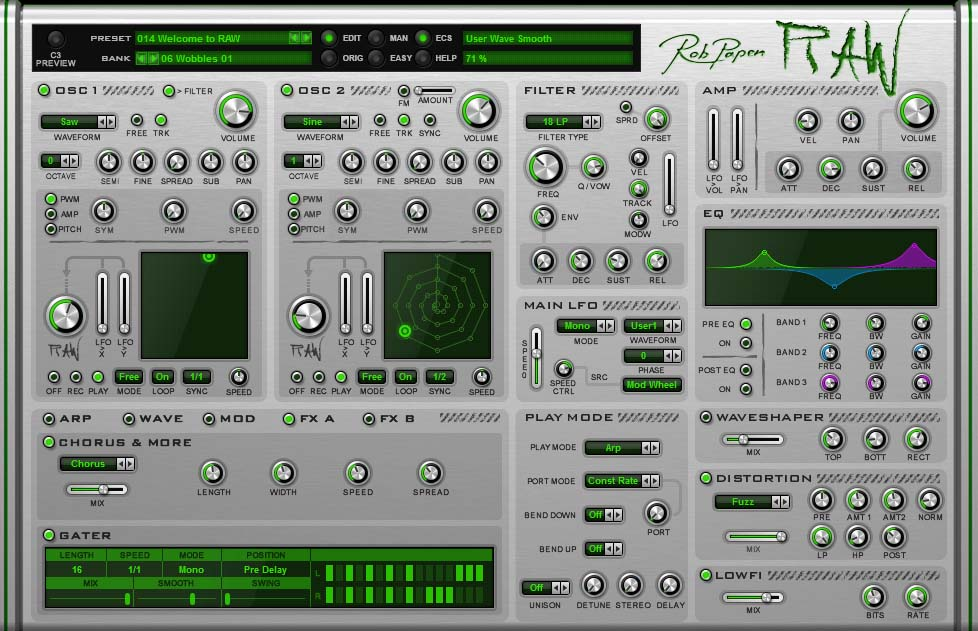 RobPapen RAW FX A AgeOfAudio - Rob Papen Raw - virtual synthesizer