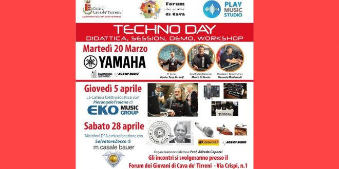 Techno Day AgeofAudio 660x330 - Techno Day - Didattica, session, demo, workshop.