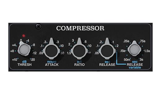 Sezione Compressore API 2500 UAD - API 2500 Bus compressor per UAD